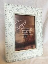 Heavy Flowered Country Cottage Resin Ivory Picture Frame