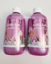 Bath & Body Works LAND OF SWEETS LAVENDER SUGAR Bubble Bath & 8 OZ New X2 NEW