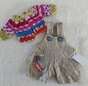 Essemble: Cardigan & Balloon Pants, For Approx. 20 CM Bears, Unikate- Handarbeit