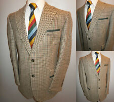 Magee 42 S Tweed Wool Blazer Green Trim Suit Jacket Country Sport Coat Boating