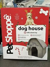 Pet Shoppe Dog House with Bone Toy Small Breed Dogs 18x17x16 Home Travel New Dog