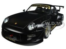 PORSCHE RWB 993 MATT BLACK /GOLD WHEELS 1/18 MODEL CAR BY AUTOART 78154