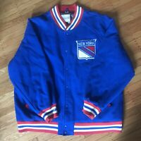 NY RANGERS Mitchell & Ness NHL Wool Varsity Letterman Jacket 60 4XL RARE