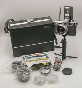 Rare - Yashica Electro 35 35mm Film Rangefinder Camera Kit W/ Case & Accs. *Read