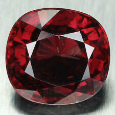 3 CT. AAA RED NATURAL GEMS SPINEL CUSHION 8.3 X 8.2 X 5.2 MM. UNHEATED