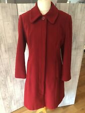 Red Wool Blend Coat With Pockets Sz12/40