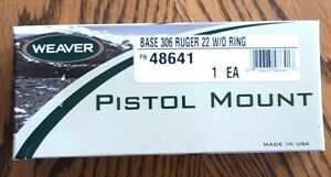 Weaver Pistol Mount #306 MT w/o Rings 48641 for Ruger 22