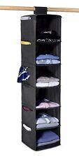 6 Estante Organizador Colgante Suéter-Estantes De Colgar fácilmente conectar a varillas de armario