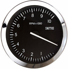 Smiths Classic Motorsport Tachometer / Rev Counter 100mm 0-8K RPM Chrome Bezel