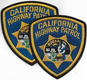 2 x  CALIFORNIA  HIGHWAY PATROL Polizei Abzeichen STATE Police Patch USA CHiPs