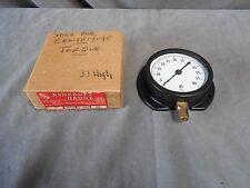 Unused Vintage 3 12 Inch Ashcroft No 1010 Gauge 0 60 Psi Made In Usa