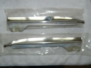 1963 FORD GALAXIE 500 CHROME LOWER FRONT GRILL COWL   TRIM SET LEFT & RIGHT