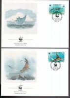 Kiribati 1991 FDC MiNr. 566-569  Weltweiter Naturschutz Meerestier