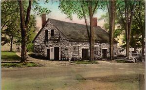 Old Stone Shop Wallingford VT Hand Colored Vintage Postcard LL1