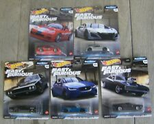 5 HOT WHEELS 2020 PREMIUM FAST & FURIOUS FULL FORCE COMPLETE SET OF 5