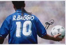 Roberto BAGGIO firmato a mano ITALIA FOTO 12x8 1.