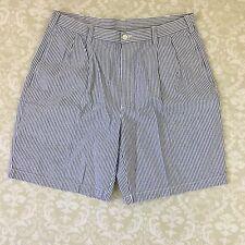 Jos. A. Bank Shorts 35 Blue striped seersucker Bermudas stays cool