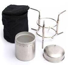 Simon Alcohol Stove Metho Ultralight Spirit Burner Outdoor Furnace Stand & Cover