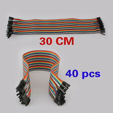 Rainbow Color 40 Way Cable 30cm Flat Arduino Jumper Cable For Home Appliance NEW