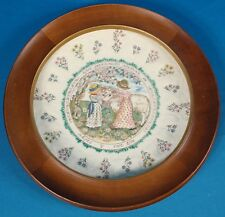 "Royal Doulton Kate Greenaway Almanack March ""The Ram"" Plate w/ Wood Frame"