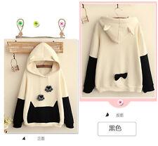 Japanese Mori Kawaii Girl Cute Hat Sweater Shirt Cat Paw Tail Hoodies Clothing