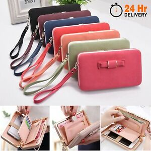 Clutch Bag Women Purse Leather Wallet Ladies Handbag Card Phone Holder Case Coin