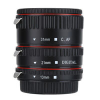 Metal Auto Focusing Macro Extension Lens Adapter Tube Rings Set for Canon EOS EF