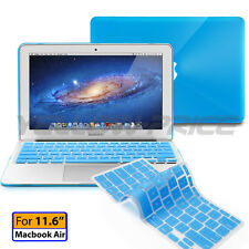 "Macbook Air 11 11.6"" Case See-through Smart Cover Rubberized keyboard cover"