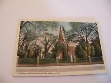 VINTAGE POSTCARD EPISCOPAL CHURCH ERECTED 1736  EDENTON  NC