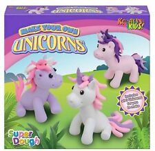 Make Your Own Sew Knitted Dough Clay Unicorn Figure Kids Girls Art Craft DIY Toy