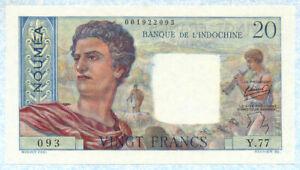 NEW CALEDONIA 20 Francs 1951-63 P50b UNC