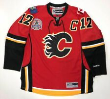 JAROME IGINLA 2004 CALGARY FLAMES STANLEY CUP RBK PREMIER JERSEY XL