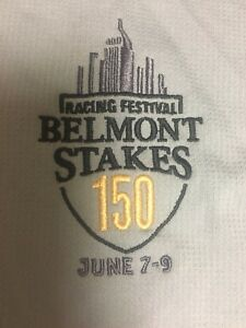 2018 Belmont Stakes Horse Racing Polo Shirt Staff Medium Justify Triple Crown