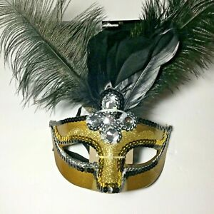 Mardi Gras Glitzy Temptation DELUXE MASK ~ Birthday Party Supplies Adult