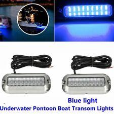 2x 3.5'' Marine Boat 27 Blue LED 50W Underwater Pontoon Boat Transom Lights