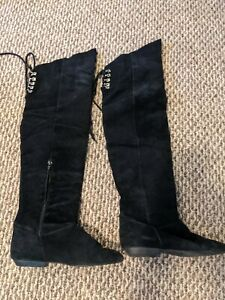 Thigh High Suede Boots Size 8.5B