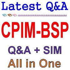 APICS Basics of Supply Chain Management CPIM-BSP Exam Q&A PDF+SIM