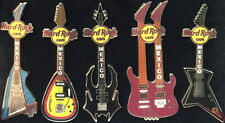 Hard Rock Cafe MEXICO 2007 Set of 5 GUITARS in SPECIAL Display Box LE 200 #40690