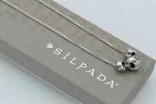Silpada Sterling Silver Etched Three Ball Pendant Box Chain Necklace