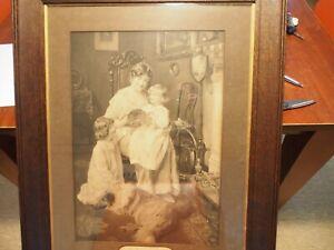 Bedtime Stories by Arthur J Elsley Monchrome antique signed print