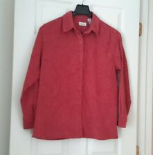 Women's L/S Button Down Burgundy Shirt/Top Blouse By Classic Elements Size M