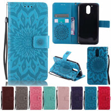 Sunflowers Wallet Leather Flip Case Cover For Motorola Moto G4 Play G5 E4 C Plus