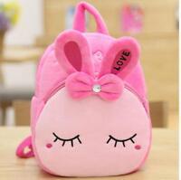 Cute Cartoon Rabbit Children Kindergarten School Bag Plush Girl Boy Backpack