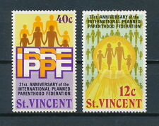 St.Vincent #356-7 MNH, Planned Parenthood, 1974