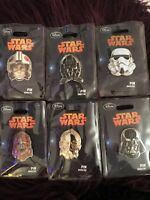 Disney Store STAR WARS Collection Series 1 PIN SET RARE LE