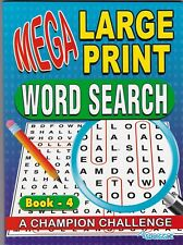 WORDSEARCH PUZZLE BOOK 4 LARGE PRINT 129 PUZZLES- BUY ANY 2 GET ANY 1 FREE