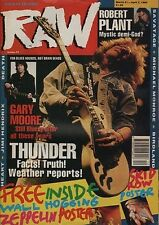 Thunder on RAW Cover 1990   Robert Plant   Jimi Hendrix   Heart   Gary Moore