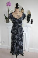 BNWT Gina Bacconi Black Blouse Skirt Twinset Suit 12 Beaded Floral Wedding -60%