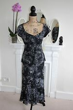 BNWT Gina Bacconi Black Blouse Skirt Twinset Suit 12 Beaded Floral Wedding -60%!