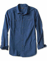 NWT Banana Republic $89.50 Men Slim-Fit Printed Denim Utility Shirt Size M,L,XL